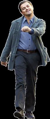 Leonardo DiCaprio in a cool black suit.