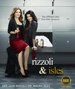 "Fanedit of a Rizzoli & Isles poster by Tumblr user beejustme with the very apt tagline ""I know subtext."""