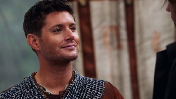 Dean Winchester wearing a medieval costume